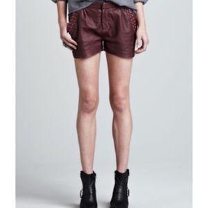 NWOT Maison Scotch Leather Shorts